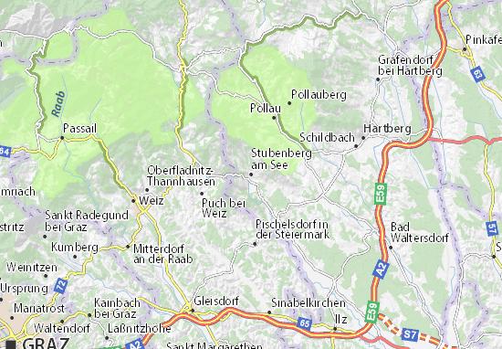 Mapas-Planos Stubenberg am See