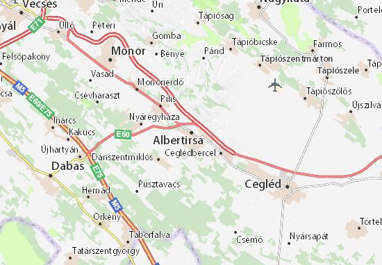 Kaart Plattegrond Albertirsa