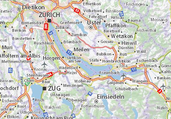 Karte Stadtplan Männedorf