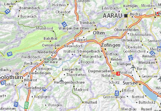 Karte Stadtplan Murgenthal