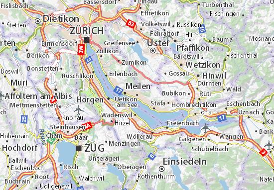Uetikon am See Map