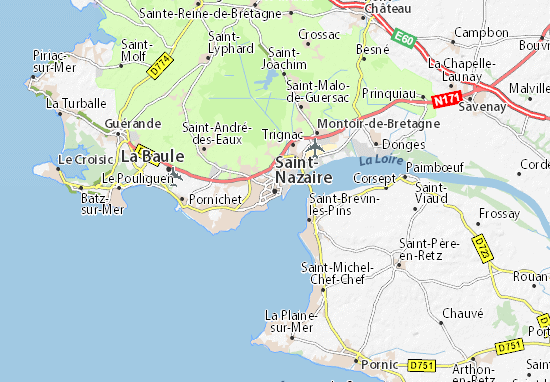 Saint-Nazaire Map