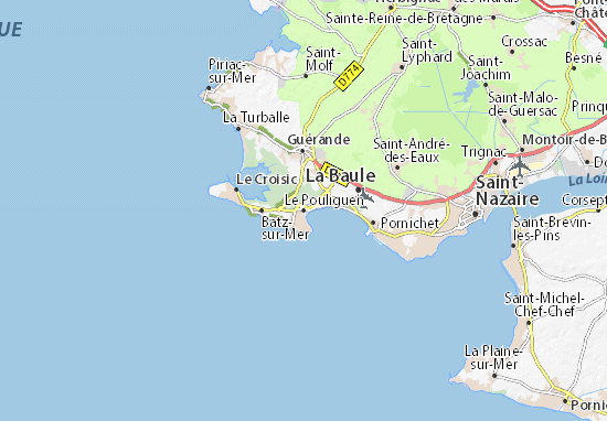 Mapas-Planos Le Pouliguen
