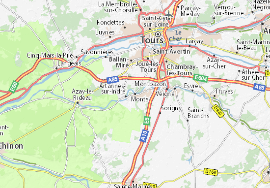 Karte Stadtplan Monts