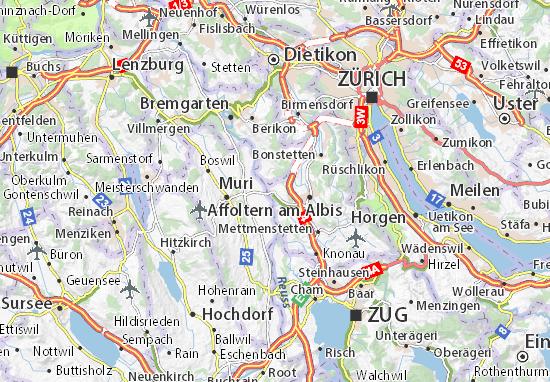 Carte-Plan Ottenbach
