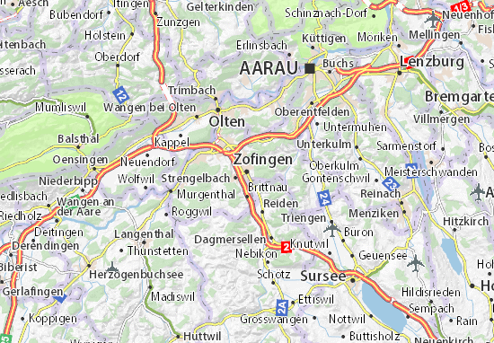Carte-Plan Zofingen