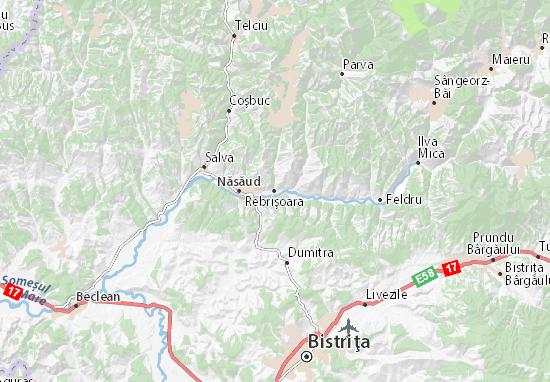 Rebrişoara Map