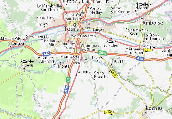 Veigné Map