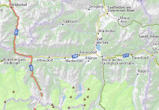 Piesendorf Map