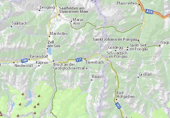 Taxenbach Map