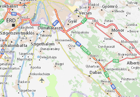 Kaart Plattegrond Ócsa