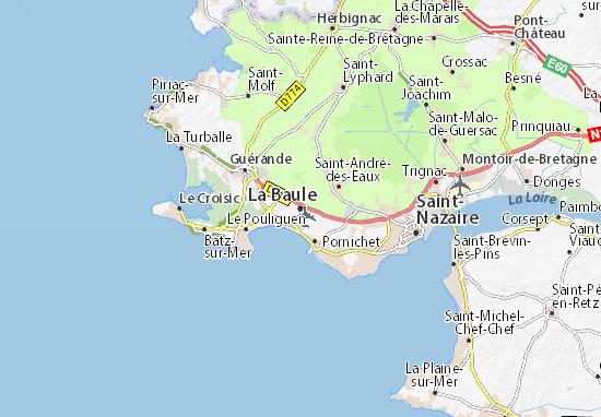 Map of La Baule Michelin La Baule map ViaMichelin – Tourist Attractions Map In La