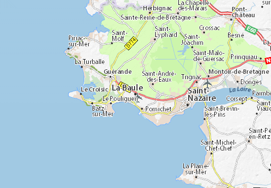 Karte Stadtplan La Baule