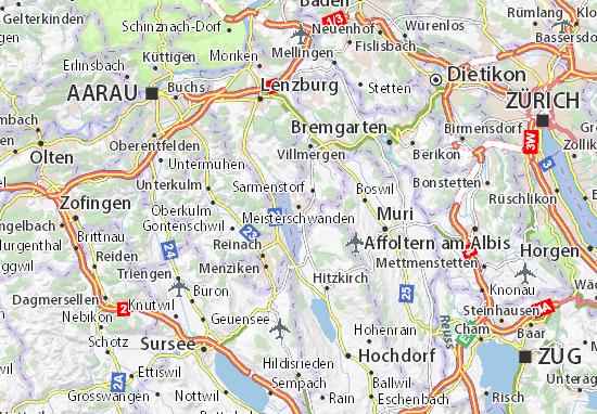 Mapas-Planos Meisterschwanden