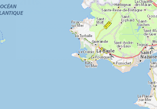 Karte Stadtplan Le Croisic