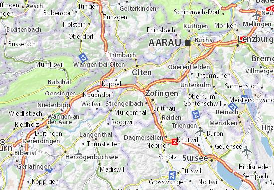 Karte Stadtplan Gländ