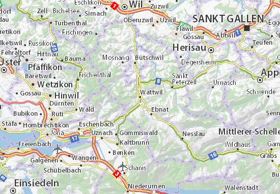 Carte-Plan Wattwil