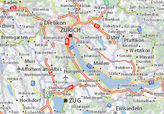 Kaart Plattegrond Erlenbach