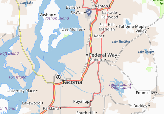 Federal Way Map