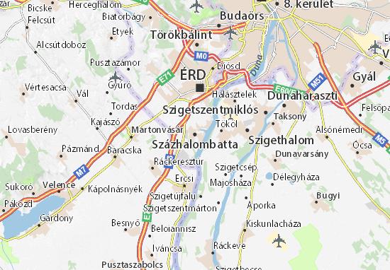Százhalombatta Map