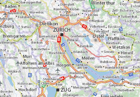 Carte-Plan Küsnacht