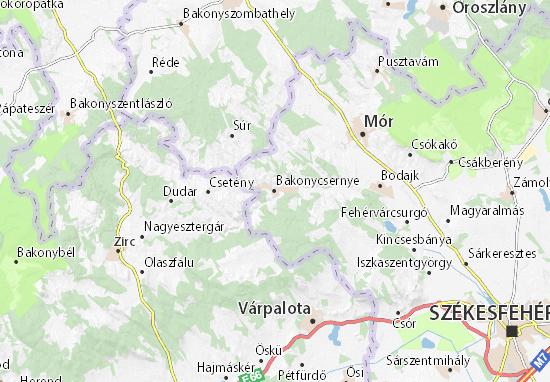 Bakonycsernye Map