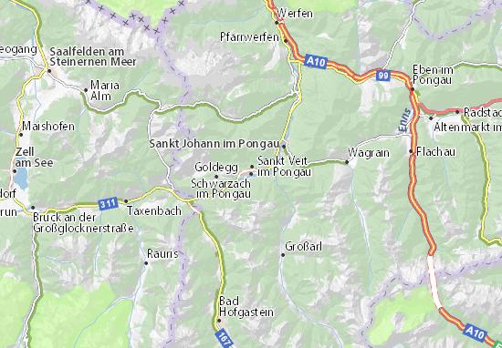 Schwarzach im Pongau Map