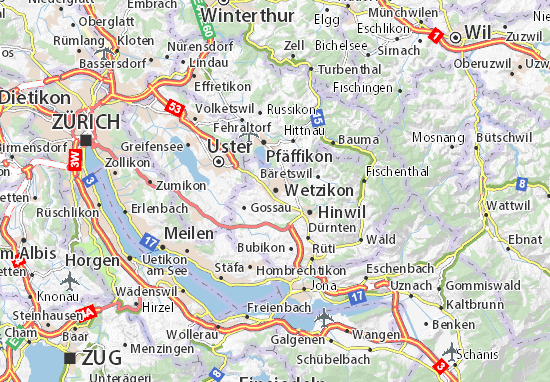 Carte-Plan Wetzikon