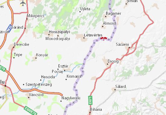 Cserekert Map
