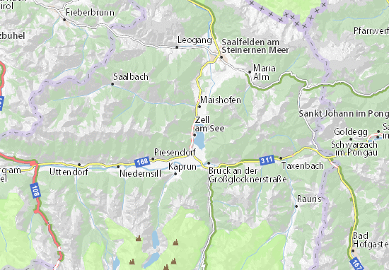 Zell am See Map