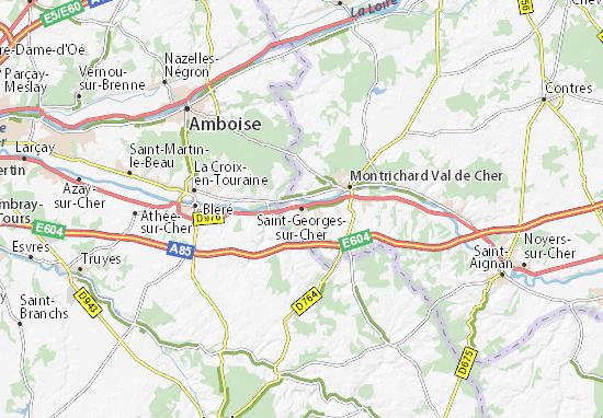 Carte-Plan Saint-Georges-sur-Cher