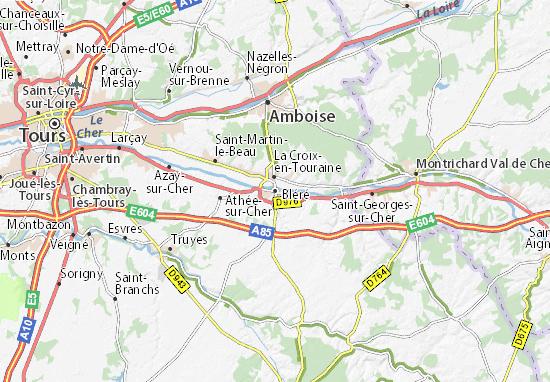Karte Stadtplan Bléré