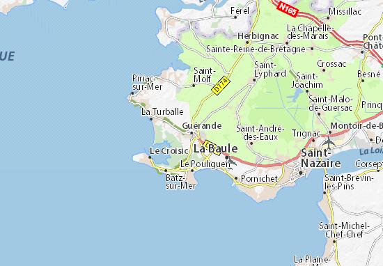 Carte-Plan Guérande