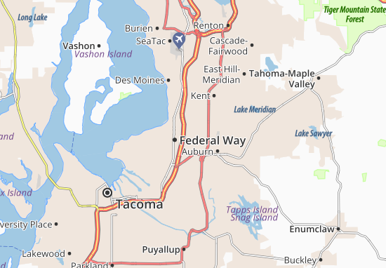 Lakeland North Map