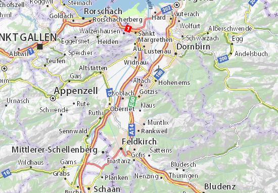 Karte Stadtplan Götzis