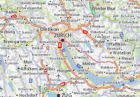 Carte-Plan Zollikon