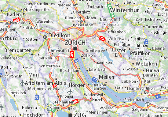 Karte Stadtplan Zollikon