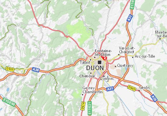 Mapa Plano Plombières-lès-Dijon
