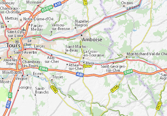 Mapa Plano La Croix-en-Touraine