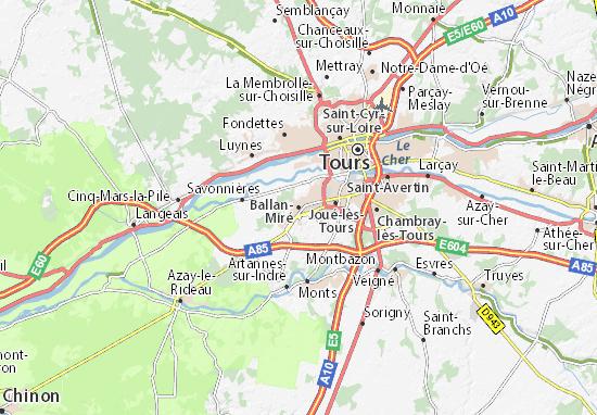 Ballan-Miré Map