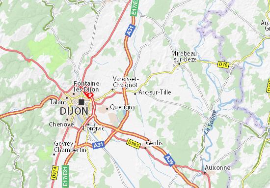 Mapa Plano Arc-sur-Tille