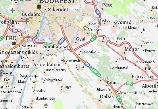 Felsőpakony Map