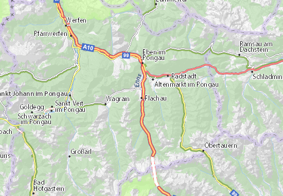Carte-Plan Flachau