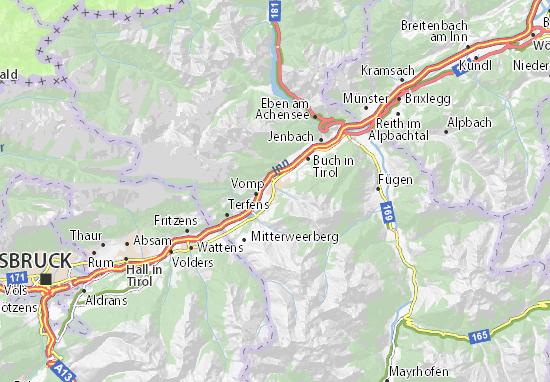 Mapa Plano Schwaz