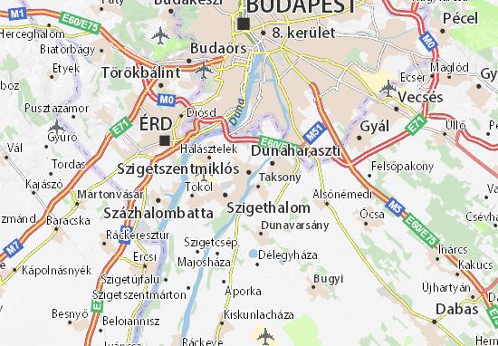 Szigetszentmiklós Map