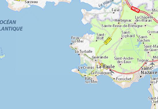 Karte Stadtplan La Turballe