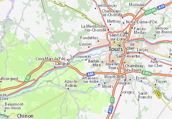 Kaart Plattegrond Savonnières