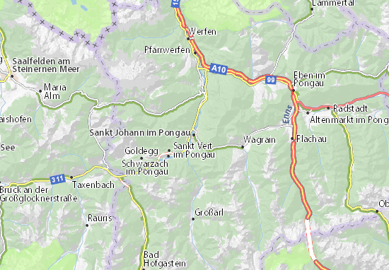 Mapas-Planos Sankt Johann im Pongau