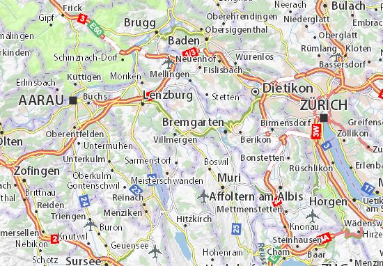 Karte Stadtplan Wohlen