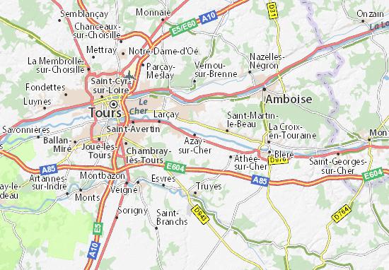 Carte-Plan Azay-sur-Cher